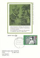 D34247 CARTE MAXIMUM CARD FD 1975 NETHERLANDS - ALBERT SCHWEITZER CP - Albert Schweitzer