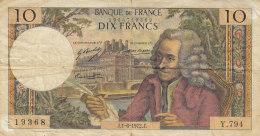 Billet 10 F Voltaire Du 1-6-1972 FAY 62.57 Alph. Y.794 - 1962-1997 ''Francs''