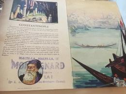 MENUS Charles Heidsieck Thème Constantinople Avec Cachet Tampon HALTE LE MONTAGNARD . - Menus