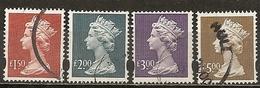 Grande-Bretagne Great Britain Machins 1999 High Value Stamps Obl - Machins