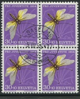 1874 - 30 Rp. Schmetterlingshaft - Zentrumstempel BASEL 16 BAD. BAHNHOF 9.III.55 - Pro Juventute