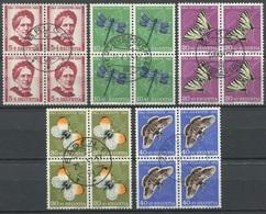 1876 - 1951 Pro Juventute Serie Im Viererblock Mit Sauberem Zentrumstempel - Gebraucht
