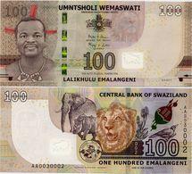 SWAZILAND       100 Emalangeni       P-New       6.9.2017 (2018)       UNC - Swaziland