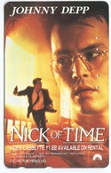 1877 - NICK OF TIME Mit Johnny Depp - Movie / Film - Japan Telefonkarte - Kino