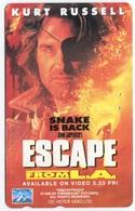 1878 - ESCAPE FROM L.A. Mit Kurt Russell - Movie / Film - Japan Telefonkarte - Cinéma