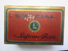 """Old Latvia / Lettland Laferme   Cigarette Metal Tin Box """" SPECIAL"""" - Porta Sigarette (vuoti)"""