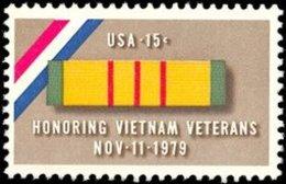 1979 USA  Viet Nam Veterans Stamp Sc#1802 Martial Soldier - Jobs