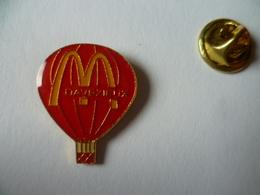 PIN'S MONTGOLFIERE   MACDONALD'S  DAVEZIEUX  ARDECHE - McDonald's