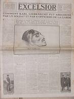 EXCELSIOR (11 Mai 1919) Drame De La Mort Du Leader Socialiste Allemand Karl Liebknecht - Journaux - Quotidiens