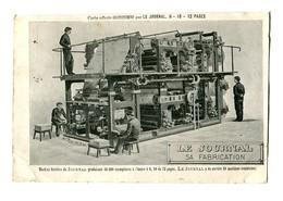 CPA Métiers Industrie Journal Carte Publicitaire Le Journal Sa Fabrication - Industrie