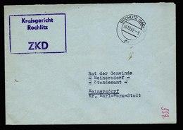 A5502) ZKD DDR Brief Kreisgericht Rochlitz 10.10.63 N. Meinersdorf - DDR