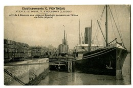 CPA 64 Pyrénées Atlantiques  Et. C.Pontneau Carte Publicitaire Arrivée à Bayonne Des Lièges Et Bouchons - Bayonne