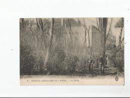 POISSY 3 HOPITAL AUXILIAIRE N° 38 LE JARDIN (GUERRE 1914 1918 MILITAIRES) - Poissy