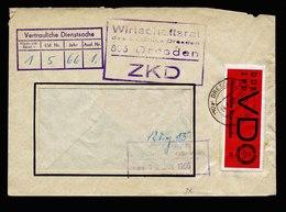 A5503) ZKD DDR VD-Sache Wirtschaftsrat Dresden 14.1.66 Doppelt Verwendete Mi.3x - DDR