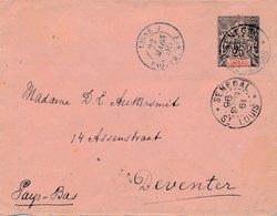 Lettre Entier Groupe Saint Louis Senegal Ligne J  Pour Deventer - Sénégal (1887-1944)