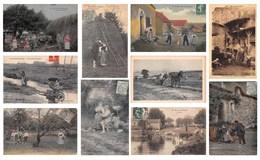 Lot De 22 CPA De Scènes Champêtres - Paysans Paysannes Couples Foins - Agriculture