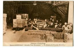 CPA 49 Maine Et Loire Saint Hilaire St Florent Caves Ackerman Chantier D'emballage Animé - France