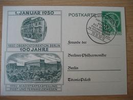 Deutschland- Postkarte Berliner Philharmoniker 1950 - [7] République Fédérale