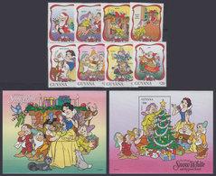 GUYANA 1996 - Disney Snow White - Mi 5802-9 + B523-4; CV=19 € - Fumetti