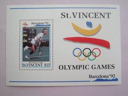 1992 Saint Vincent Yvert BF161 ** Sport JO Scott 1611 Michel B204 SG  Ms 1884 - St.Vincent (1979-...)