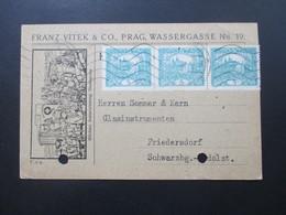 Tschechoslowakei 1919 Firmenkarte Mit Karikatur / Zeichnung Höchste Auszeichnung Staatspreis. Franz Vitek Prag - Tschechoslowakei/CSSR