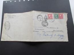 USA 1916 Zensurbeleg Boston - Basel. Weitergeleitet. USA Marke Mit Perfin / Lochung! Ouvert 202 Par L'Autorite Militäre - Briefe U. Dokumente