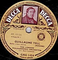 2 Disques 78 Trs 30 Cm - état TB  THE LONDON PHILHARMONIQUE ORCHESTRA  GUILLAUME TELL Ballet 1ère, 2ème, 3ème Et Concl. - 78 T - Disques Pour Gramophone