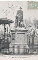 PAU . STATUE DE HENRI IV . AFFR RECTO/VERSO . RECTO NON OBLIT DU 4 AOUT 1905 !! 2 SCANES - Pau