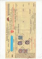 1932 - FATTURA Di Oli Lublificanti - Con Marche Bollo - - Altre Collezioni