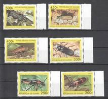 B067 1998 REPUBLIQUE DE GUINEE INSECTS COLEOPTERES 1SET MNH - Sonstige