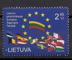 2013 Litauen Lietuva  Mi. 1137 **MNH     Vorsitz Litauens In Der Europäischen Union - Idées Européennes
