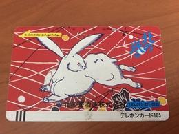 Telecarte Japon - Comic Rabbit - Balkenkarte / Front Bar Card Japan / Japonese  - Nr. 110-14953 - Japan