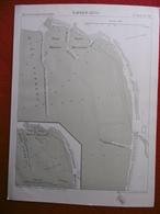 NAPLES 1880 ATLAS DES PORTS ETRANGERS Dim 24.5 X 33 Cm - Cartes Marines