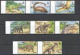 B073 SOLOMON ISLANDS FAUNA PREHISTORIC ANIMALS DINOSAURS 1SET MNH - Vor- U. Frühgeschichte