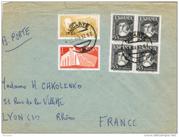 28858. Carta ALICANTE 1957 A Francia - 1931-Hoy: 2ª República - ... Juan Carlos I