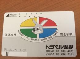 Telecarte Japon - Comic Rabbit - Balkenkarte / Front Bar Card Japan / Japonese  - Nr. 110-9858 - Japan