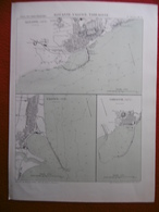 ALICANTE VALENCIA TARRAGONA 1878 ATLAS DES PORTS ETRANGERS Dim 24.5 X 33 Cm - Cartes Marines
