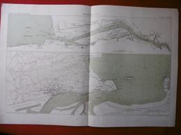 BILBAO 1878 SANTANDER 1875 ATLAS DES PORTS ETRANGERS Dim  49 X 33 Cm - Nautical Charts