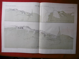 FIUME 1883 ATLAS DES PORTS ETRANGERS Dim  49 X 33 Cm - Cartes Marines