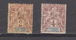 Groupe Colonie   Légende Diego Suaerz Et Dépendances 2c Et 4c - Used Stamps