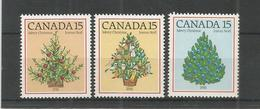 Canada 1981 200th Anniversary First Illuminated Christmas Tree Celebrations Plants Trees Holiday Stamps MNH SG#1023-1025 - 1952-.... Reign Of Elizabeth II