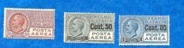 ITALIE-1926/1927- N++ -P.A  80 Cts Et 2 Timbres Surchargés  En 1927  -    Bon état - - 1900-44 Victor Emmanuel III