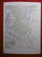LE PIREE 1870  ATLAS DES PORTS ETRANGERS Dim  24.5 X 33 Cm - Cartes Marines