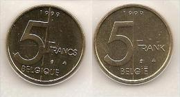 5 Frank 1999 Frans+vlaams * Uit Muntenset * FDC - 03. 5 Francs