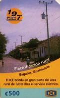 TARJETA TELEFONICA DE COSTA RICA. (PREPAGO) ELECTRIFICACIÓN RURAL. 001 - Costa Rica