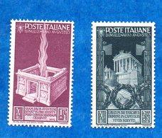 ITALIE-1937- N++ -Empereur Auguste  2 Timbres ( 1.75 Et 2.55 Lires )  Tres Bon état - - Neufs