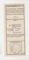 HOLLAND / TICKET STAATSBEDRIJF P.T.T. - Pays-Bas