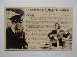 """Carte Partition De Musique """" Une Nuit à Monte-carlo"""" - Opéra & Théâtre"""