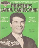 PARTITION JEAN PAUL MAURIC PRINTEMPS AVRIL CARILLONNE - Partitions Musicales Anciennes
