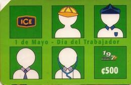 TARJETA TELEFONICA DE COSTA RICA. (PREPAGO) 1 DE MAYO, DIA DEL TRABAJADOR. 006 - Costa Rica